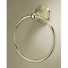 Monterey Towel Ring in Brushed Brass