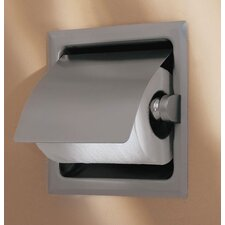<strong>Gatco</strong> Recess Toilet Paper Holder with Cover in Satin Nickel