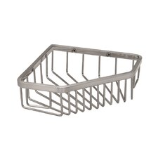 Corner Shower Basket in Satin Nickel