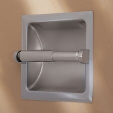 Recess Toilet Paper Holder in Satin Nickel