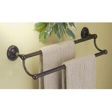 Chenille Double Towel Bar in Burnished Bronze