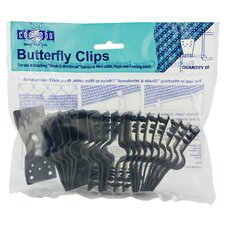 Shade Fabric Butterfly Clips (Set of 10)