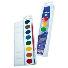 16 Color Washable Watercolors Set