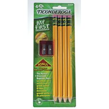 Large Size Pencil Kit with Sharpener (Set of 4)
