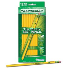 <strong>Ticonderoga</strong> 12 Count Yellow Wood Pencil