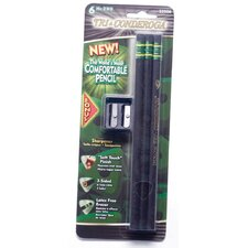Black Comfortable No. 2 Pencil with Sharpener (Set of 6)