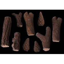 9 Piece Assorted Log Set for Ethanol fireplaces Heat Resistant Pressed Ceramic Fiber