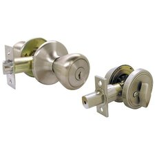 "14.5"" Single Cylinder Deadbolt and Entry Combo Lockset Set 4 Way"
