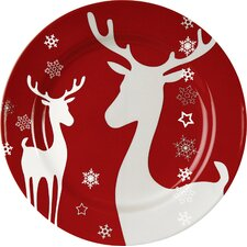 Winter Splendor Reindeer Salad Plate (Set of 4)