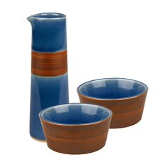 Pure Nature Oil and Vinegar Dipping 3 Piece Condiment Server Set
