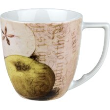 Accents Nature 12 oz. Apples Mug (Set of 4)