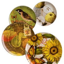 "Accents Nature 8"" Assorted Plates (Set of 4)"
