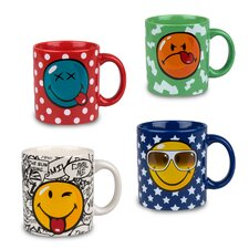 <strong>Waechtersbach</strong> Fun Factory Smiley Mug (Set of 4)