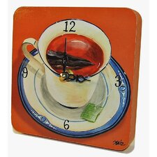 Home and Garden Cup of Tea Tiny Times Clock