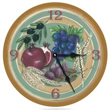 "Seven Species of Israel 18"" Wall Clock"