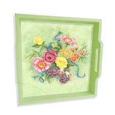 "Bouquet 16"" Square Serving Tray"