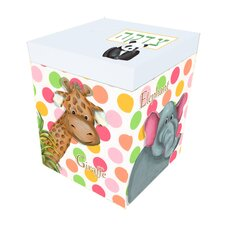 Zoo Animals Polka Dot Personalized Tzedaka Box