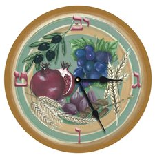 "Seven Species of Israel 10"" Wall Clock"