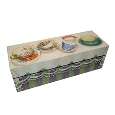 Tea Cups Decorative Storage Box