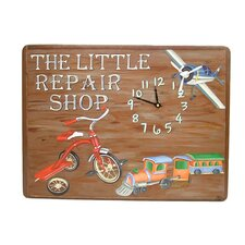 Children and Baby Little Repair Shop Wall Clock