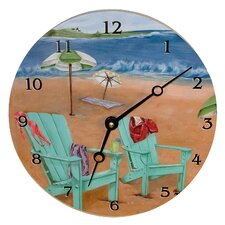 "<strong>Lexington Studios</strong> Travel and Leisure 10"" Skinny Dipping Wall Clock"
