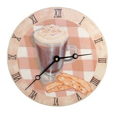 "Home and Garden 10"" Cappuccino Wall Clock"