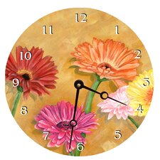 Gerber Daisy Decorative Wall Clock