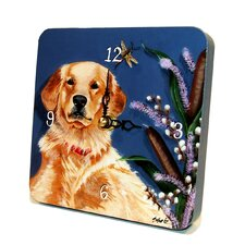 Retriever Tiny Times Clock