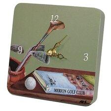 Sports Green Golf Tiny Times Clock