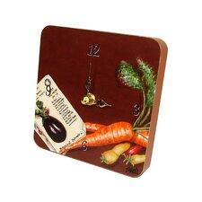 Home and Garden Veggies Tiny Times Clock