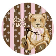 "10"" Cocoa Cabana Teddy Wall Clock"