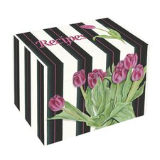 Pink Tulips Recipe Box