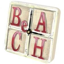 Beach Tiny Times Clock