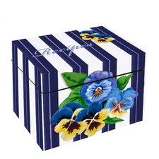 Pansies Recipe Box