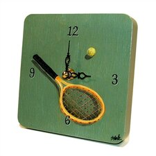 Tennis Tiny Times Clock