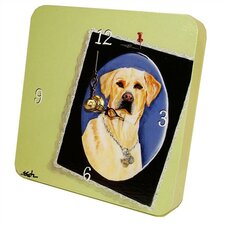 <strong>Lexington Studios</strong> Animals Yellow Lab Tiny Times Clock