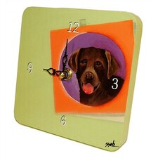 Chocolate Lab Tiny Times Clock