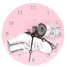 "10"" Ice Skates Wall Clock"