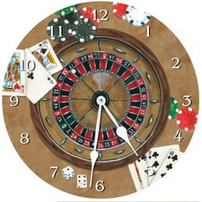 "10"" Gambler Wall Clock"
