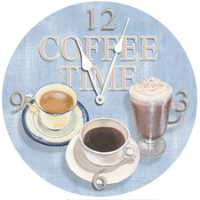 "18"" Coffee Time Wall Clock"