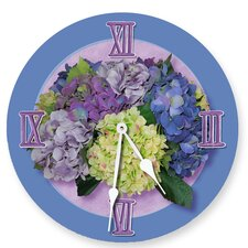"<strong>Lexington Studios</strong> 10"" Hydrangea Wall Clock"