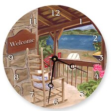"<strong>Lexington Studios</strong> 10"" Lake House Wall Clock"