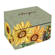 <strong>Lexington Studios</strong> Sunflowers Large Recipe Box