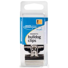 <strong>WorkEssentials</strong> 2 Count Magnetic Bulldog Clip