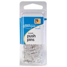 75 Count Clear Push Pin (Set of 4)