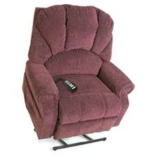 Elegance Collection Large Wide 3-Position Lift Chair with Shell Back