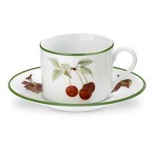 Evesham Vale 10 oz. Teacups and Saucers (Set of 4)