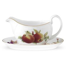 Evesham Gold 14 oz. Sauce Boat and Stand