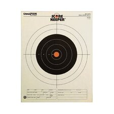 Small Bore Rifle Orange BullsEye Target (Pack of 12)