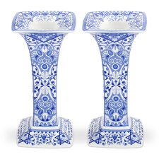 Judiaca Sabbath Candlestick (Set of 2)